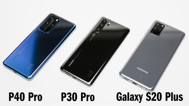 Huawei P40 Pro vs. P30 Pro vs. S20 Plus©COMPUTER BILD