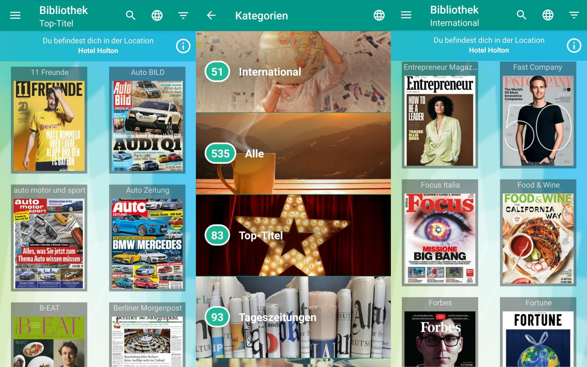 Screenshot 1 - Sharemagazines (Android-App)