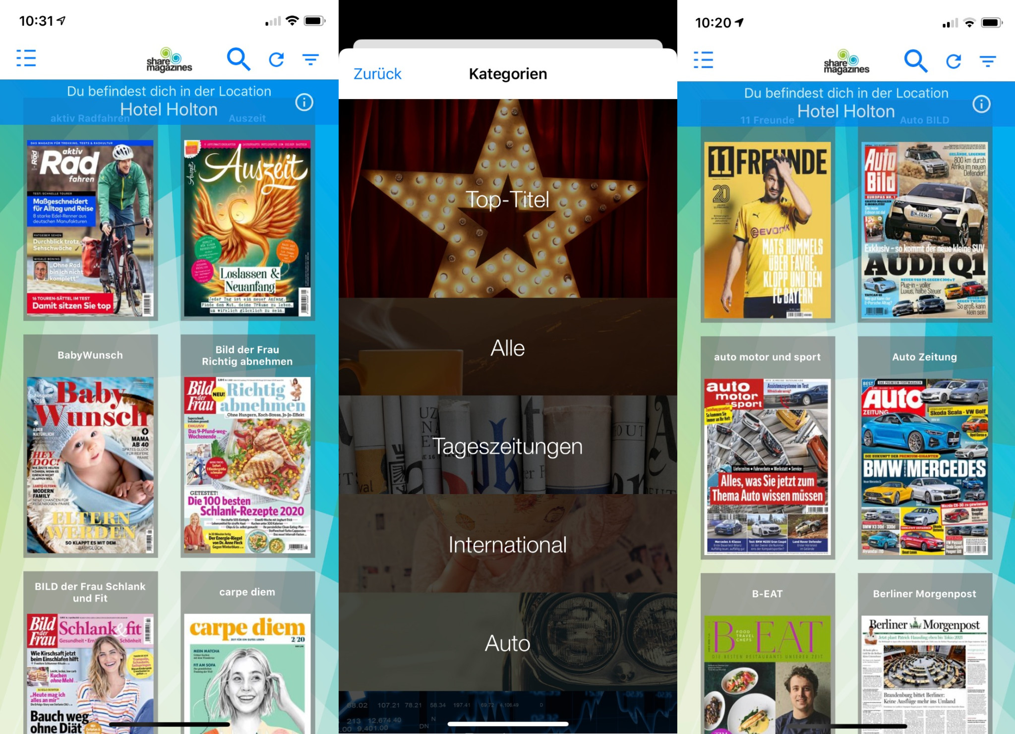 Screenshot 1 - Sharemagazines (App für iPhone & iPad)