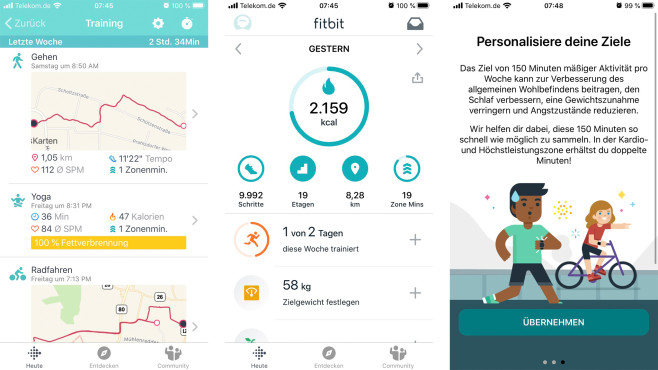 Fitbit Charge 4©Screenshot: Fitbit-App / COMPUTER BILD