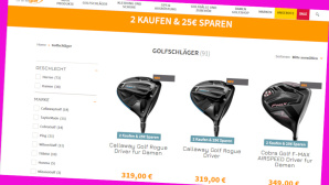 Onlinegolf.de-Angebot: Spar-Deal f�r Golfschl�ger©Screenshot www.onlinegolf.de
