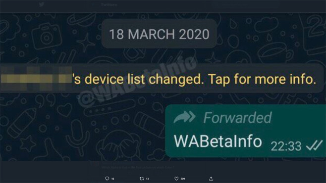 WhatsApp Multiple Devices©WABetaInfo