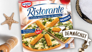 Verpackung der Fischstäbchen-Pizza©Quelle: Screenshots Twitter-Seite Dr. Oetker Pizza DE