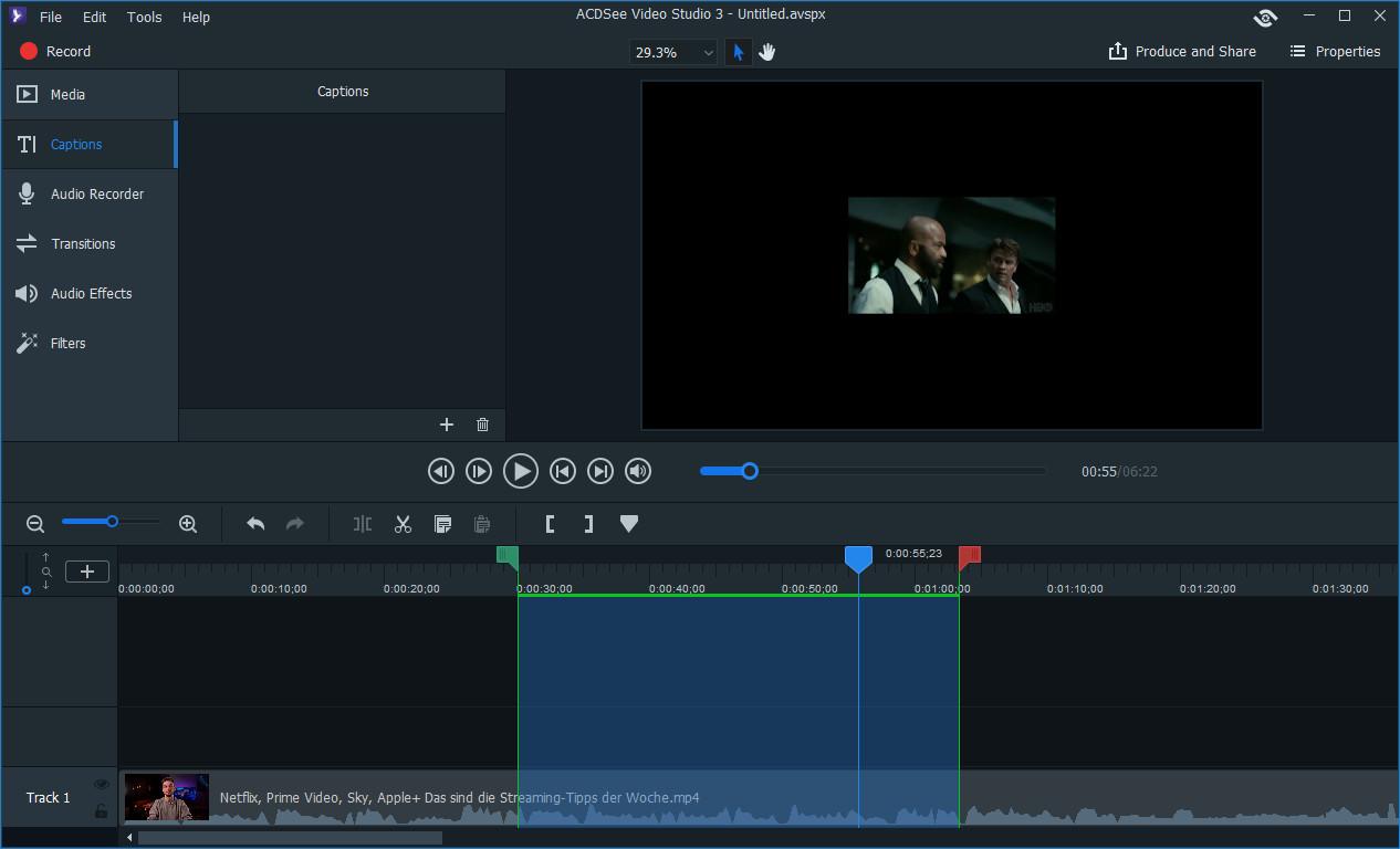 Screenshot 1 - ACDSee Video Studio 3 – Kostenlose Vollversion