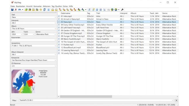 Screenshot MP3Tag©MP3Tag