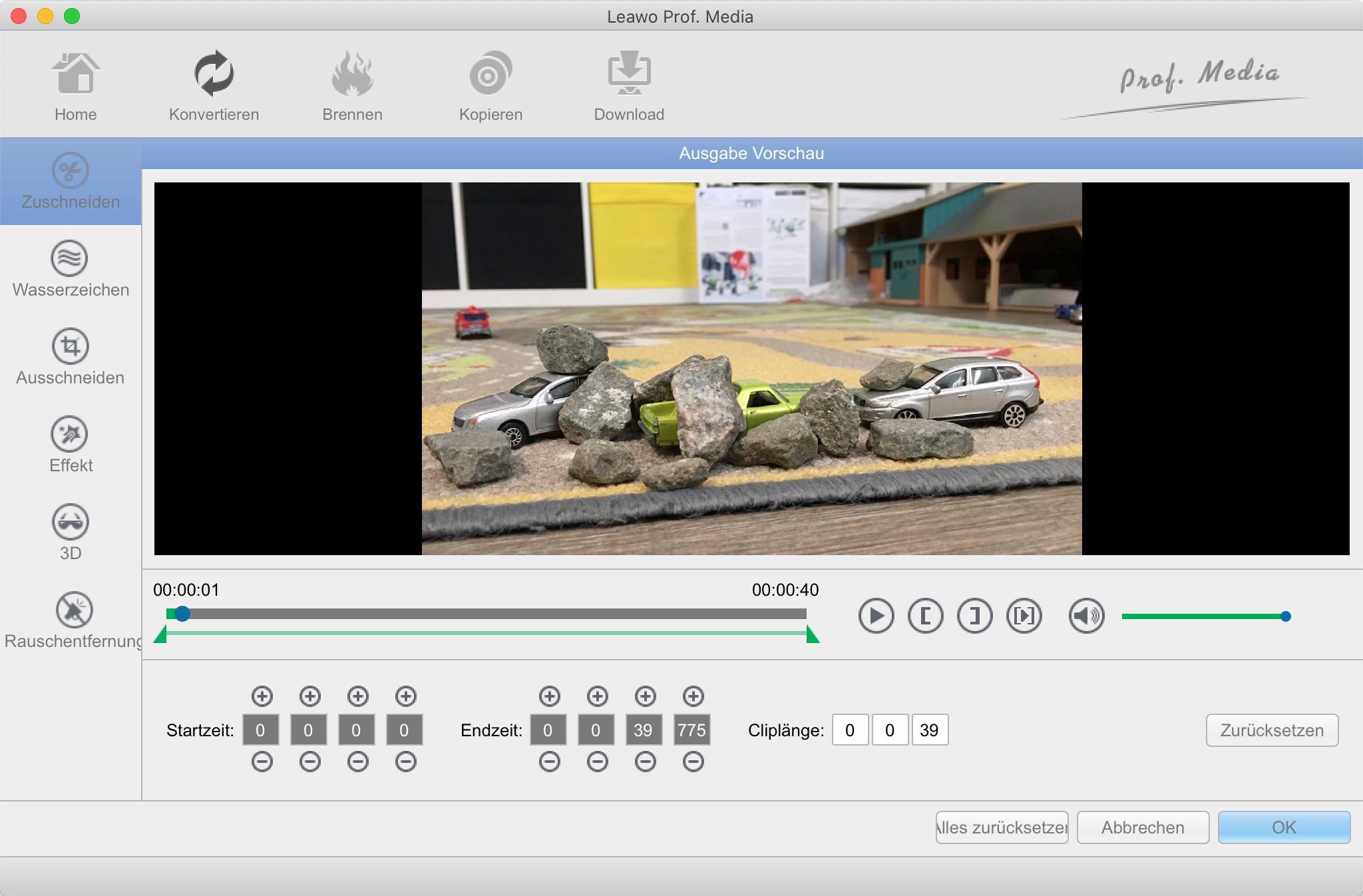 Screenshot 1 - Leawo Video Converter – Kostenlose Spezial-Version (Mac)