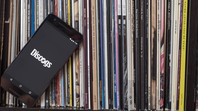 Schallplatten mit Discogs-App©Discogs