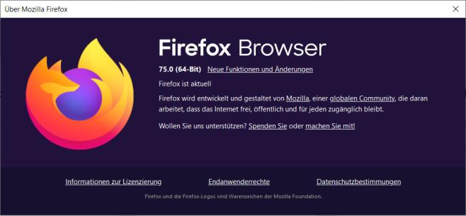 Firefox 75©COMPUTER BILD