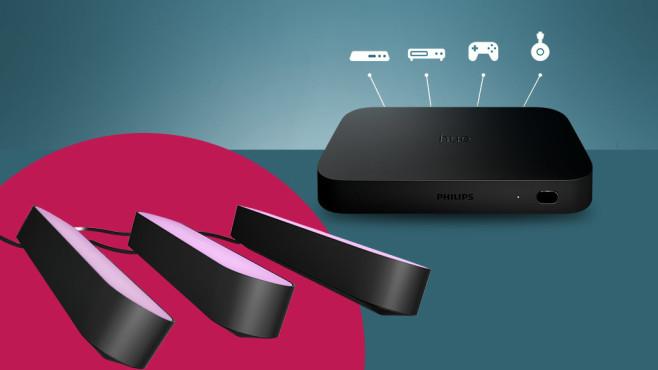 Philips Hue Play HDMI Sync Box: Jetzt als Lesertester unter die Lupe nehmen Die Hue Play Sync Box steht im Fokus dieses Lesertests.©Philips