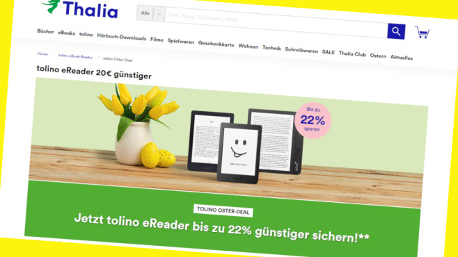 Thalia Oster-Deal: Tolino eReader zum Schnäppchenpreis©PR/www.thalia.de