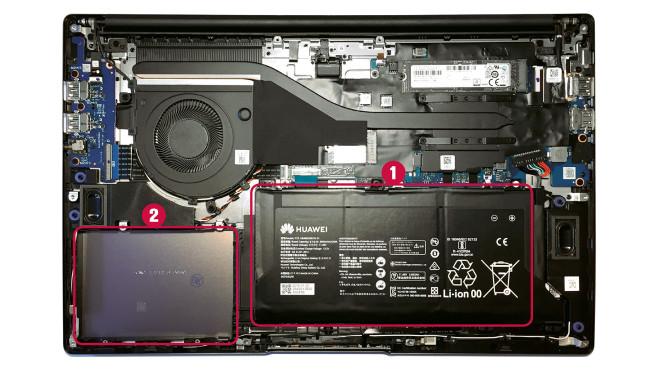 Huawei Matebook D15 Innenleben©COMPUTER BILD