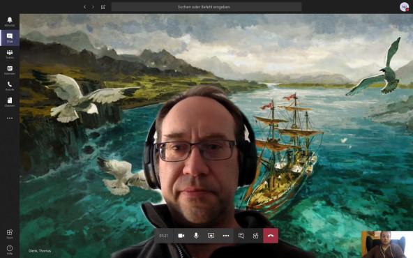 Microsoft Teams: Videohintergrund ändern Mit einem kleinen Trick laden Sie selbst Bilder in Microsoft Teams ein.©Microsoft