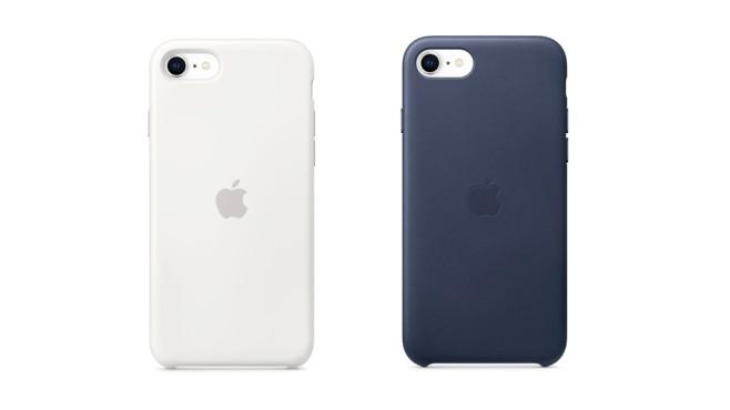 Silikon- und Leder-Case für iPhone SE2©Apple