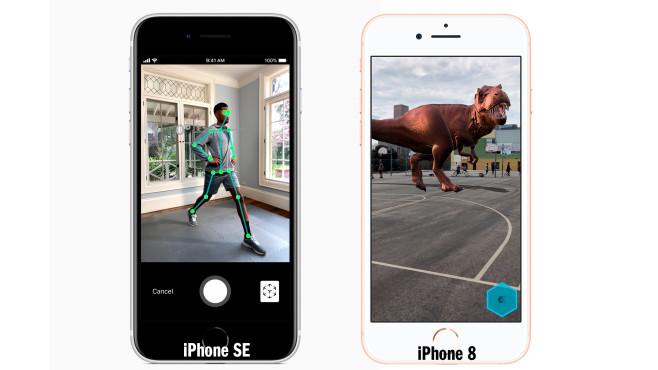 iPhone SE (2020) und iPhone 8 (2017): äußerer Vergleich©Apple (Montage: COMPUTERBILD)