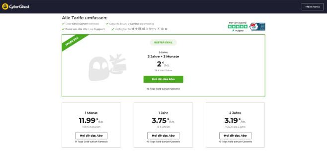CyberGhost: Halloween-Deal©CyberGhost VPN