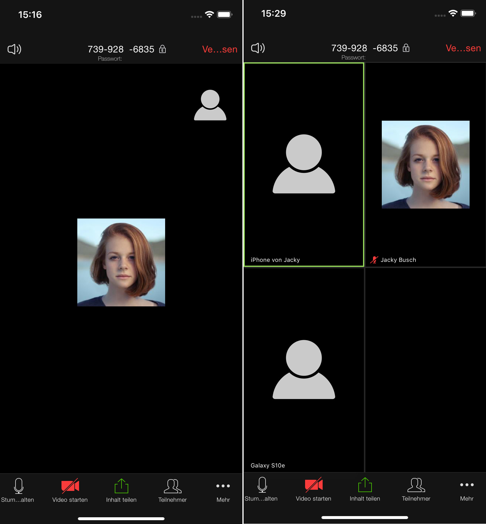 Screenshot 1 - Zoom Cloud Meetings (App für iPhone und iPad)