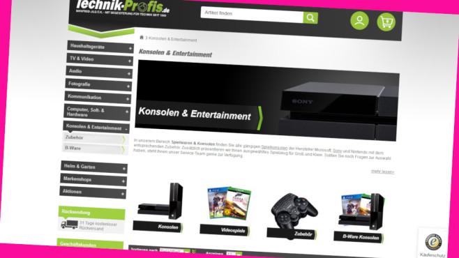 Cashback im Online-Shop von Technik-Profis©PR/Screenshot www.technik-profis.de