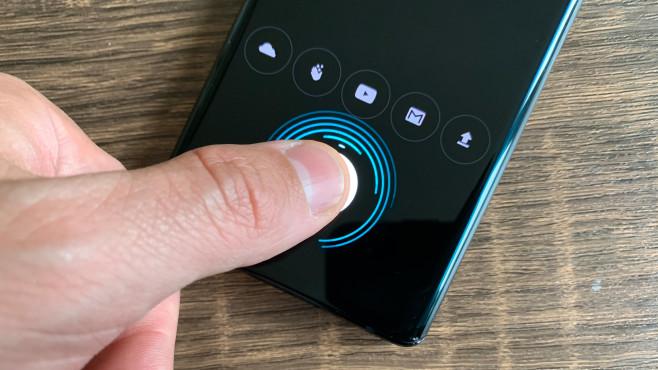 Motorola Edge: Fingerabdrucksensor©COMPUTER BILD