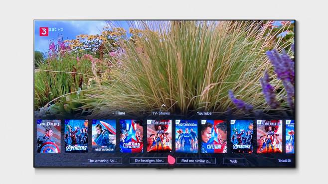 LG OLED GX im Test: Der erste neue OLED-TV des Jahres! Die Sprachsuche vom LG OLED GX hilft bei der Filmauswahl und durchforstet die Angebote von den wichtigsten Streaming-Diensten.©LG Electronics, COMPUTER BILD