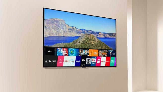 LG OLED GX im Test: Der erste neue OLED-TV des Jahres! LG OLED GX im Test: Das Betriebsystem WebOS 5.0 gefällt duch einfache Bedienung und große App-Auswahl.©LG Electronics, COMPUTER BILD