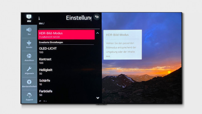 Optimale Bildeinstellung für den LG OLED GX©LG Electronics, COMPUTER BILD