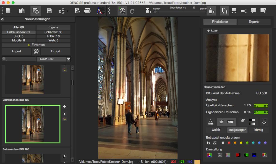 Screenshot 1 - Denoise Projects Standard – Kostenlose Vollversion (Mac)