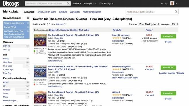 Erste Anlaufstelle für Plattensammler im Internet: Discogs.©COMPUTER BILD