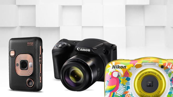 Günstig, aber auch gut? Kameras bis 200 Euro im Check©Canon, Fujifilm, Nikon, iStock.com/akinbostanci