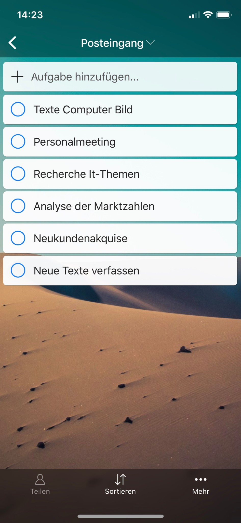 Screenshot 1 - Zenkit To Do (App für iPhone & iPad)