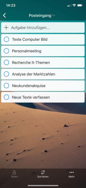 Zenkit To Do (App für iPhone & iPad)