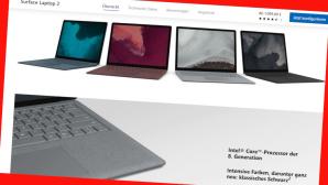 Microsoft Store: Surface 2 online g�nstiger©Screenshot www.microsoft.com