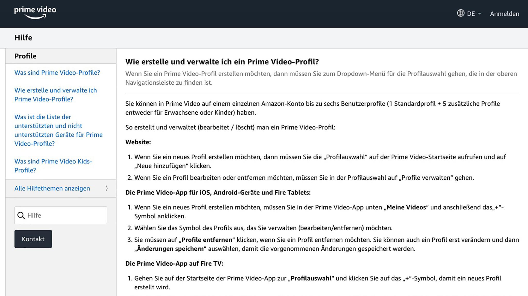 Amazon Prime Mehrere Nutzer