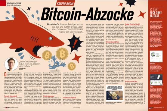 Bitcoin-Abzocke ©COMPUTER BILD