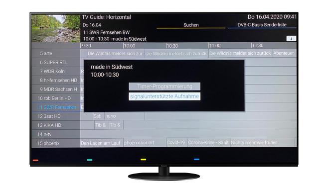 """Der Panasonic HZW1004 beherrscht auch die """"signalunterstützte Aufnahme"""".©Panasonic, COMPUTER BILD"""