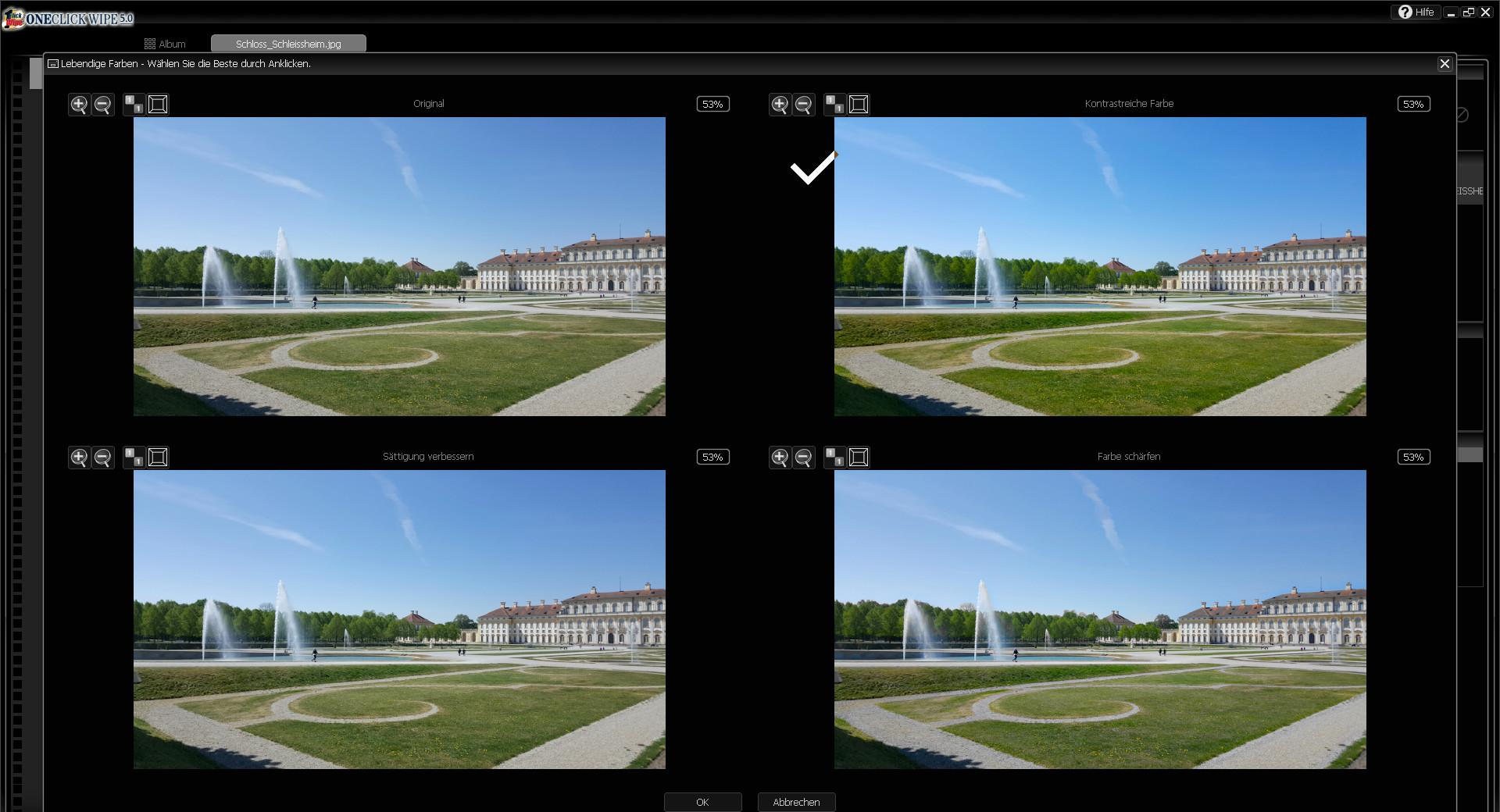 Screenshot 1 - OneClick Wipe 5 – Kostenlose Vollversion
