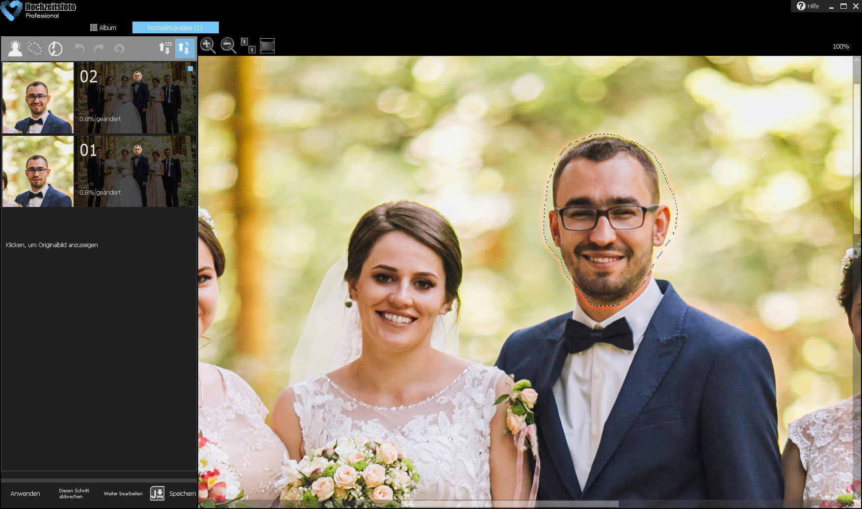 Screenshot 1 - CutOut Hochzeitsfoto – Kostenlose Vollversion