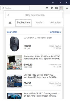 eBay für Firefox