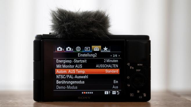 Sony Vlog-Kamera ZV-1 Einstellungsmenü©COMPUTER BILD