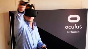 Redakteur mit Oculus Quest©COMPUTER BILD