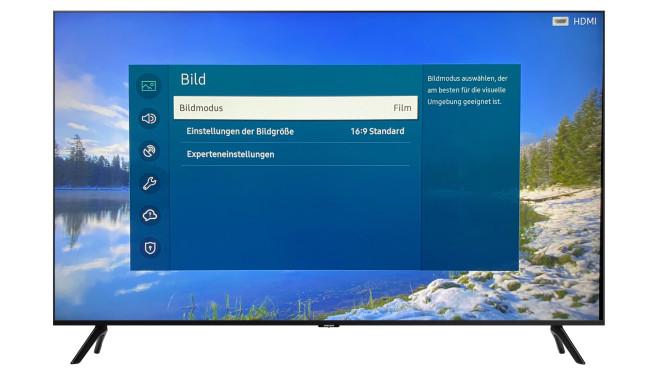 """Der Samsung TU8079 lieferte im Test im Bildmodus """"Film"""" perfekt natürliche Farben.©Samsung, COMPUTER BILD"""