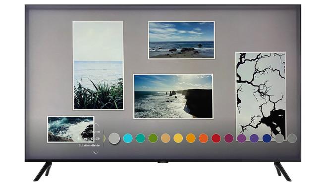 Neu in dieser Preisklasse ist beim Samsung TU8079 der Ambient Mode.©Samsung, COMPUTER BILD