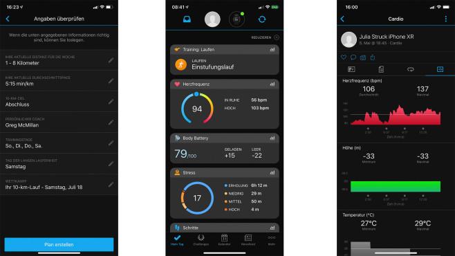 Garmin-Connect-App für Android und iOS©COMPUTER BILD