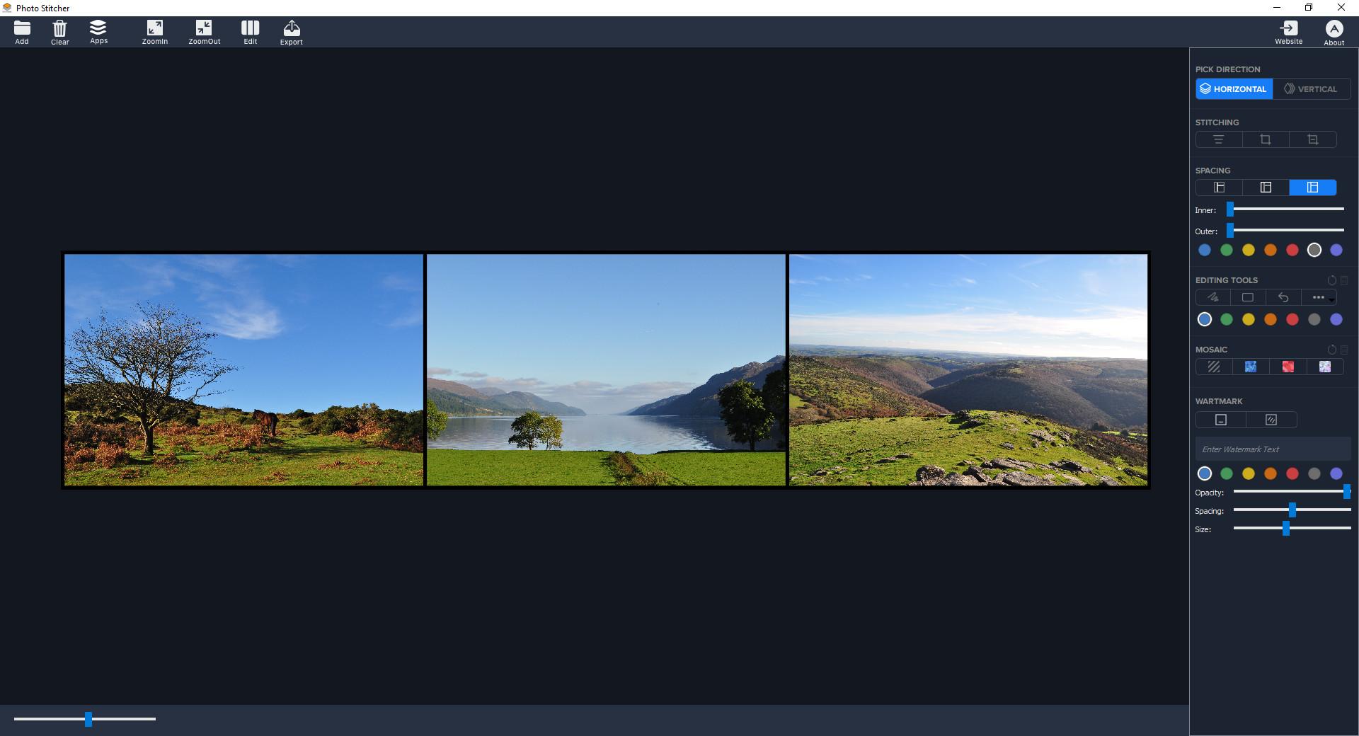 Screenshot 1 - Photo Stitcher