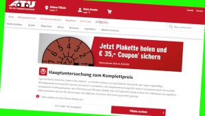 Filial-Coupon von A.T.U. kassieren©PR/Screenshot www.atu.de/shop