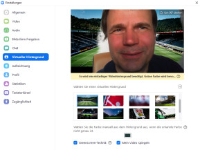 Bundesliga-Hintergründe für virtuelle Meetings