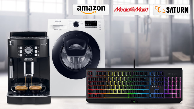Amazon, Media Markt, Saturn: Die Top-Deals des Tages! © Amazon, Media Markt, Saturn, Razer, Samsung, De'Longhi, iStock.com/Hiraman