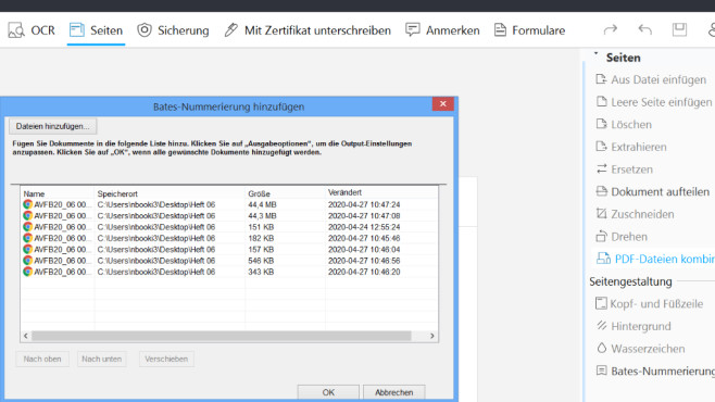 Mehrere PDF-Dateien zusammenfügen ©COMPUTER BILD