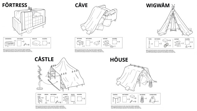 Anleitung für die perfekte Wohnzimmerhöhle©BBDO Russia, Ikea