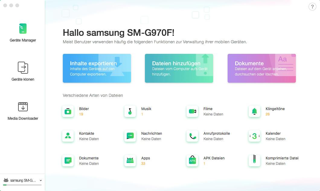 Screenshot 1 - AnyTrans für Android (Mac) – Kostenlose Vollversion für 1 Jahr