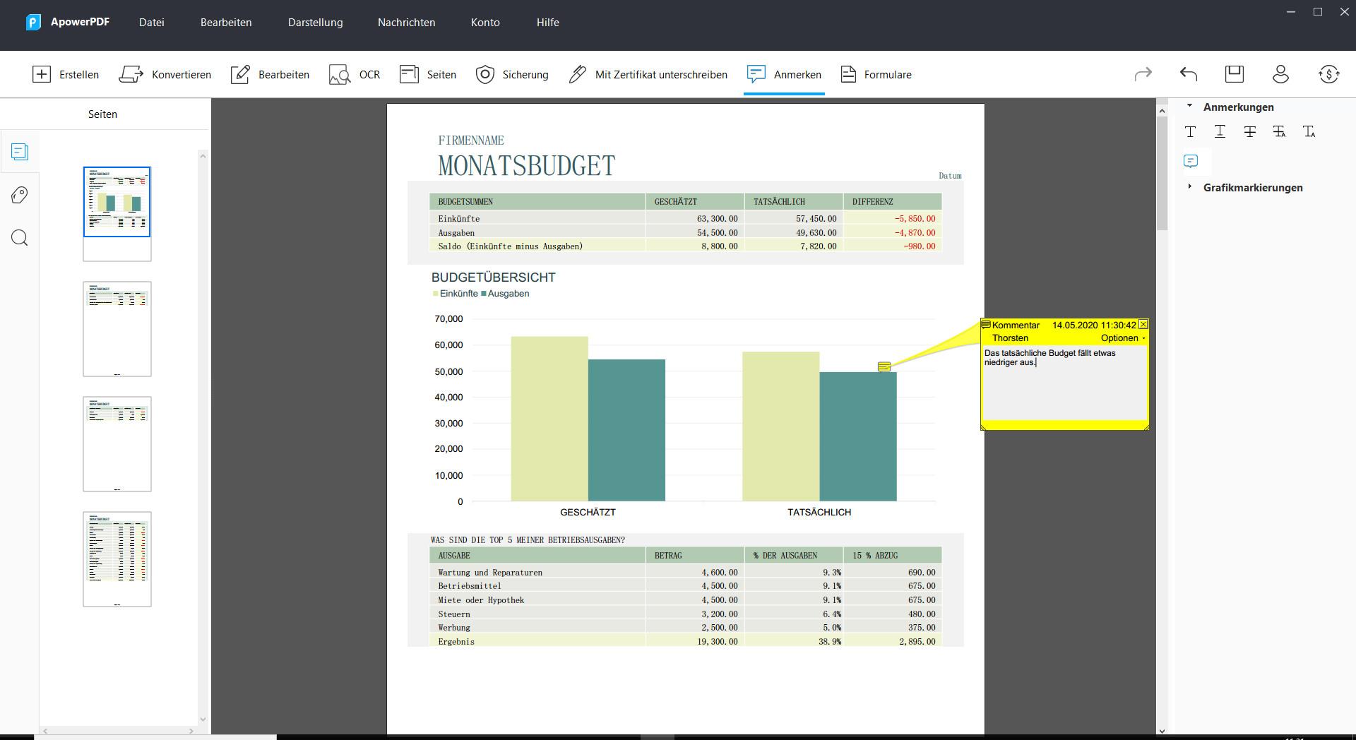 Screenshot 1 - ApowerPDF – Kostenlose Vollversion für 1 Jahr